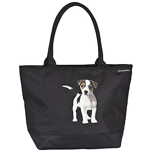 VON LILIENFELD Tasche Hund Jack Russell Umhängetasche Einkaufstasche Gross Shopper Casual Leicht