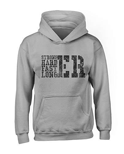 RiotBunny Stronger Harder Faster Longer Homme Capuche Sweatshirt Gris X-Large