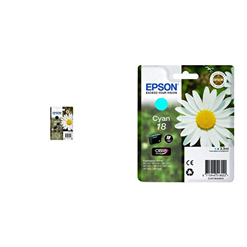 Epson C13T18114022 - Cartucho de tinta + C13T18024010 - Cartucho de tinta, cian válido para los modelos Expression Home