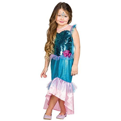 Rubies Kinder Kostüm Nixe Mädchen Fasching Karneval Halloween Verkleidung: Größe: 128