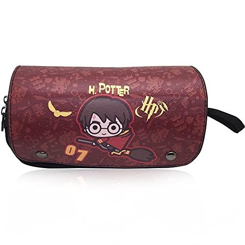 Hilloly Harry Potter Astuccio Portapenne, Astuccio Grande Capacità per Matite, Harry Potter Borsa per Matite di Borsa per Cancelleria(21×10×7.5cm)