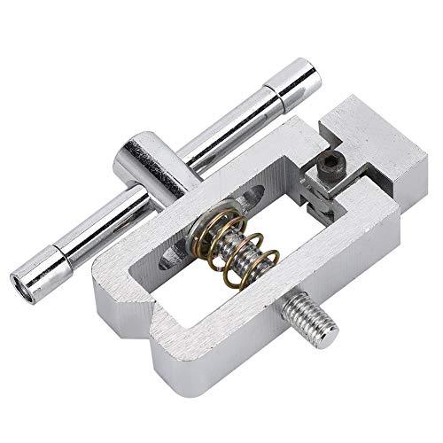 Accesorio de micrómetro de acero inoxidable 500N Abrazadera de medidor de tensión de empuje Alta dureza 20 mm Tamaño de apertura Ligero para probador de tracción