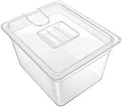 GEESTA Crystal-Clear Sous Vide Container with Lid-12qt, Fits Most Sous Vide Cookers