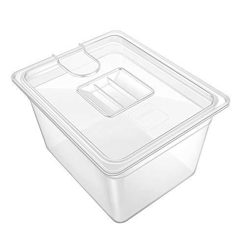 GEESTA Sous Vide Behälter mit Deckel, kristallklar, 12 qt, passend für die meisten Sous Vide Herde