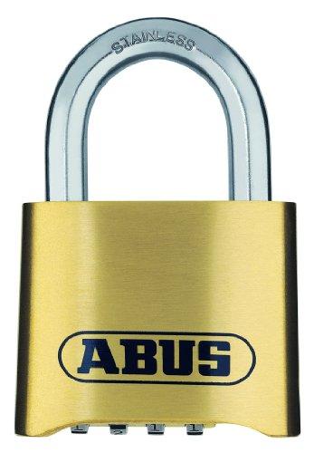ABUS Zahlenschloss 180IB/50 - Vorhängeschloss aus Messing - wetterbeständig - mit individuell einstellbarem Zahlencode - 25543 - Level 5 - Messingfarben