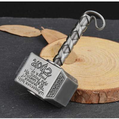 Zzx 1 stücke Wiitin Thors Battle Hammer Zappel Hand Spinner aus Metall, das mächtige Mjolnir Keychain Spielzeug - Antike Messing Spinner Volle Abdeckung 3D Rolling Induktion Drohne Quadcopter Spielzeu