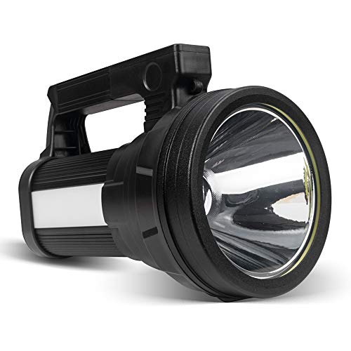 ERAY Linterna LED Recargable 15000 Lúmenes, Linternas LED Alta Potencia 3 en 1 10800mAh/ IPX4 Impermeable/ 6 Modos/Correa y Adaptador Incluido, Ideal para Camping, Ciclismo, Pesca - 2020 Actualizado