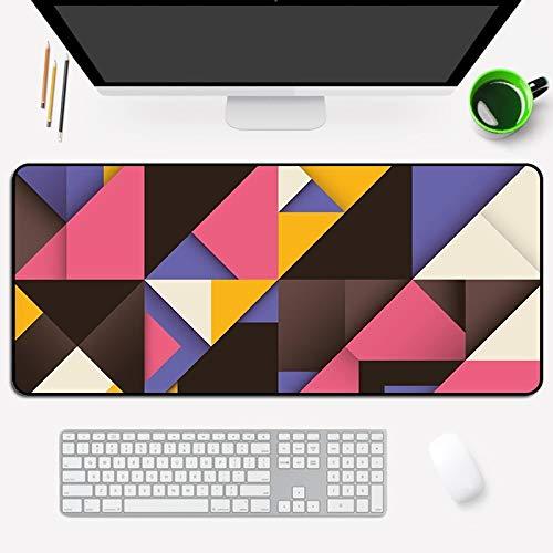 Bunter Geometrischer Druck Großes Mauspad-Notizbuch mit Tastaturpad Kann für Tischpad-Haustiermatte 700X300X3Mm Verwendet Werden