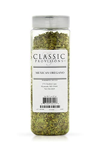 Classic Provisions Spices, Mexican Oregano Dried Whole Leaves – 3oz – Rich in Flavor for Snacks, Chicken, Salsa, Guacamole, and More