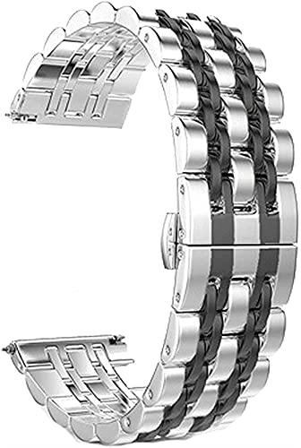 JZDH Reloj Accesorios Reloj Correa Relojamiento rápido Correa de Acero Inoxidable for 20 mm 22mm Hebilla de Mariposa Pulsera de Pulsera de Pulsera de Metal sólido Desmontable
