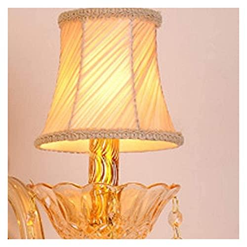 CMMT lámpara de Pared Apliques de Pared y lámparas de Pared de Cristal Vintage de diseño de Lujo Sala de Estar/Pasillo Apliques de Pared de Metal decoración del hogar