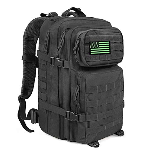 MEWAY 42L Military Tactical Backpack Large Assault Pack Molle Outdoors Daypack (Luminous)