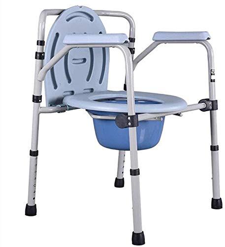 HMMN Silla de la Cama de cabecera de Acero 3 en 1, Asiento de Inodoro portátil, Inodoro portátil con protección, Inodoro bariátrico para Personas Mayores, discapacitados, discapacitados
