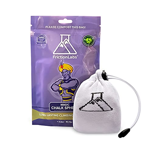 FrictionLabs Magic Chalk Ball, 2.2 oz - Premium Gym Chalk In Refillable Sock - Non Toxic - Great for...