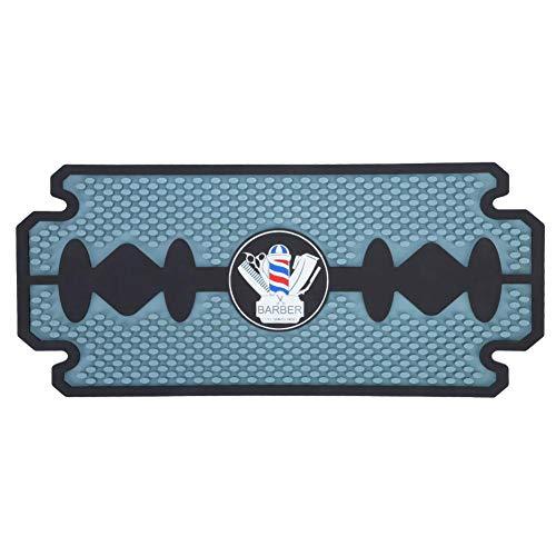 Cadeau de Juillet Coussin d'outils de Coiffeur en PU, Silicone Geal PU Anti-dérapant Pad Outils Coussin Barber Shop Accessoire de Salon de Coiffure(Non-Slip Mat)