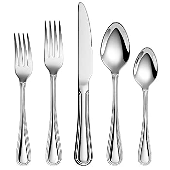 20-Piece 18/10 Stainless Steel Flatware Sets Extra Thick Heay Duty Flatware Service for 4