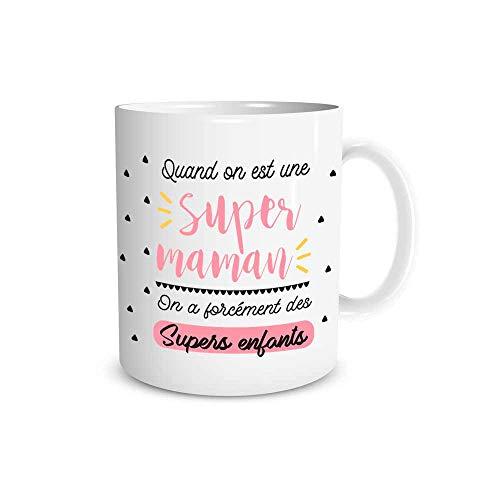 orientshop Orishop - Taza de Regalo con Texto en inglés Je T'Aime Maman, TOI la Flor de mi Vida