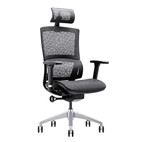 AYZE Sillas de juego para adultos/ergonomía silla de oficina/silla de aprendizaje infantil, ajuste de reposabrazos 3D, soporte de cintura, reposacabezas ajustable y silla ejecutiva de malla negro