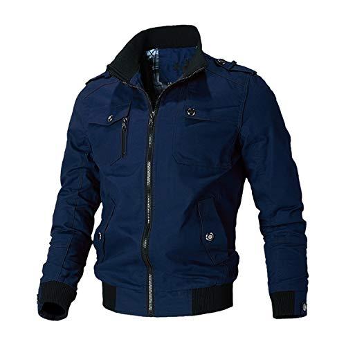 Casual Jacket Men Spring Autumn Army Military Jackets Mens Coats Outerwear Windbreaker,Blue,XL