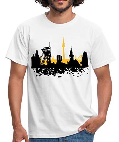 Skyline Dortmund Männer T-Shirt, XXL, Weiß