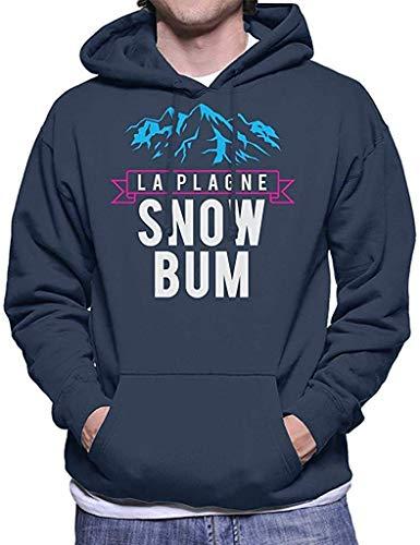 LifangtaoT La Plagne Snow Bum - Sudadera con capucha para hombre