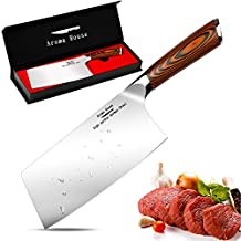 Meat Cleaver 7 inch Vegetable and Butcher Knife German High Carbon Stainless Steel Kitchen Knife chef knives with Ergonomic Handle for Home, Kitchen & Restaurant