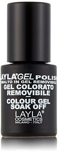 Layla Cosmetics Milano Vernis à Ongles Semi Permanent Soak Off Gel Polish Silver Glitter 10 ml