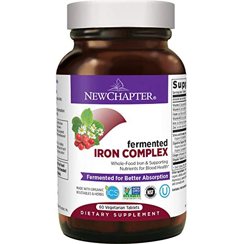 New Chapter Iron Supplement, Fermented Iron Complex (Formerly Iron Food Complex) with Organic Whole-Food Ingredients + Promotes Healthy Iron Levels +...
