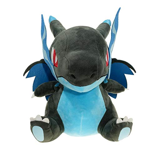 WYMDDYM Pocket Monster 8in Soft Plush Mega Charizard X Y Dragon Doll Plush Pillow (Charizard X)