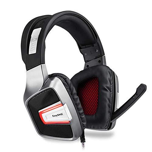 kaige Gaming Headset, Gamers verdrahtete USB-Kopfhörer Gaming Headset mit versteckter Mic LED Vibration Stereo-Kopfhörer for PC PS4 WKY