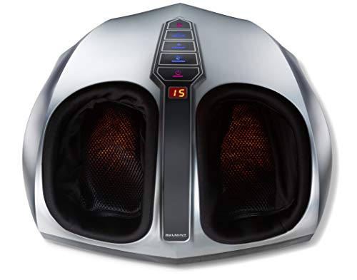 Belmint Shiatsu Foot Massager with Heat - Multi Setting Electric Feet Massager with Deep Kneading Massage Therapy and Air Compression - Delivers Relief for Tired Muscles and Plantar Fasciitis