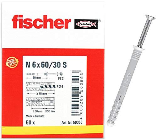 fischer Nageldübel N 6x60/30 S (50) - 50 Stück - Art.-Nr. 50355