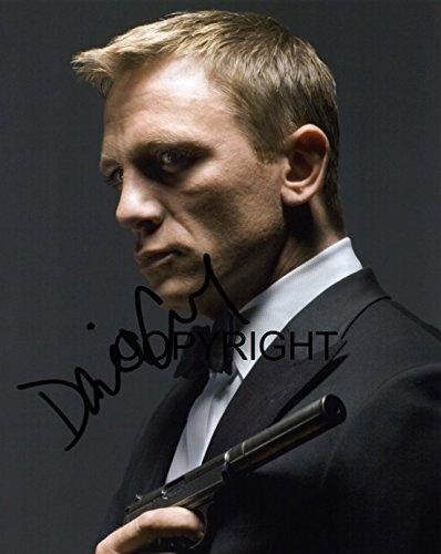 Fotodruck von Daniel Craig, James Bond, mit vorgedrucktem Autogramm, limitierte Auflage