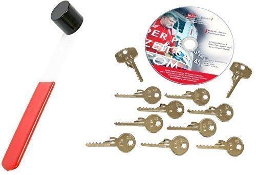 Schlagschlüssel-Komplettset - Öffnen Sie Türen mit einem Schlag, inkl. Hammer und DVD