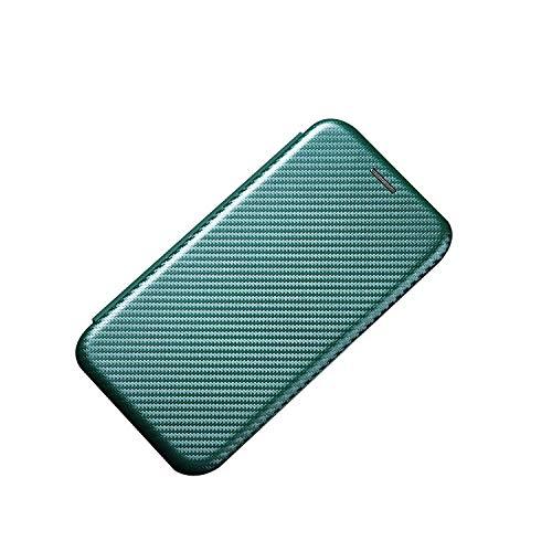 Moto G10用 / Moto G30用ケース 手帳型 スタンド機能 レザー カーボン調 上質 PUレザー カード収納 モトローラ motorola モトG10/G30 手帳型 頑丈レザーケース/カバー おしゃれ アンドロイド スマホケース(グリーン)
