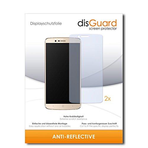 disGuard® Bildschirmschutzfolie [Anti-Reflex] kompatibel mit Elephone P8000 4G [2 Stück] Entspiegelnd, Matt, Antireflektierend, Extrem Kratzfest, Anti-Fingerabdruck - Panzerglas Folie, Schutzfolie