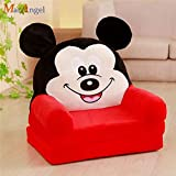 Blenzza Deco Pure Fiber Kids Sofa Cum Bed (30 x 16 x 25 inches) (Mickey Mouse)