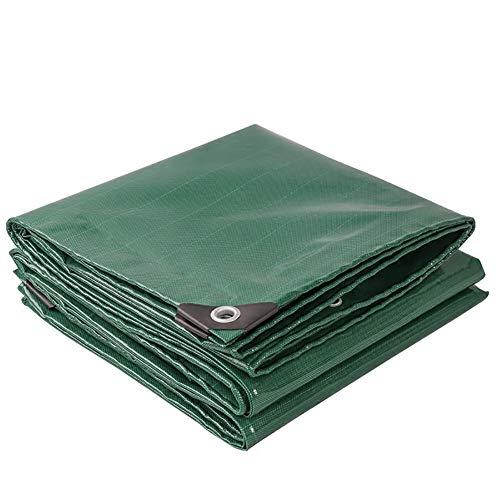 HQCC bâche imperméable double face verte avec oeillets, bâche extérieure renforcée anti-âge/déchirure/isolation (taille : 5m×6m)