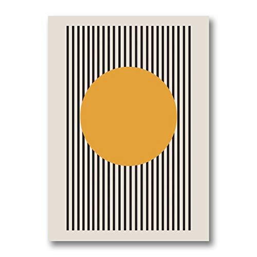 Cartel de la exposición de la Bauhaus, impresión de lienzo gráfico geométrico único, arte de pared minimalista, pintura, dormitorio, arte, decoración sin marco, A148, 40x60cm