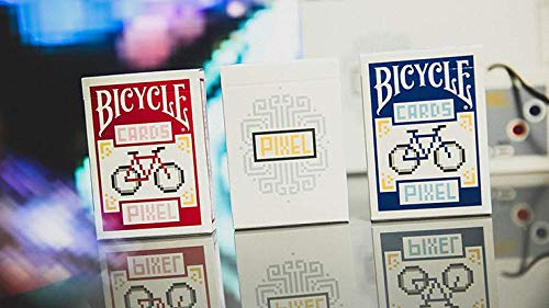 Bicycle PIXEL Playing Cards Collector 3 Card Set by TCC Presents & Extra Magic Trick Cards Set