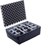 Grey CVPKG Padded Divider Set for The Harbor Freight Apache 4800 Case. Divider and lid Foam only.