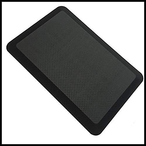 Premium Anti-alfombra De Comodidad De Fatiga,Alfombrillas De Cojín De Espuma De PU Espesas,Impermeable Soporte Adicional Alfombra De Escritorio De Pie Del Piso De La Cocina-Cuadrícula negra 75x50x2cm(