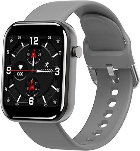 Smartwatch Fitness Armband 1.54 Zoll Voller Touch Farbdisplay mit Schrittzähler Pulsuhr Blutdruck Sportuhr Kalorienzähler Laufuhr für Android Ios