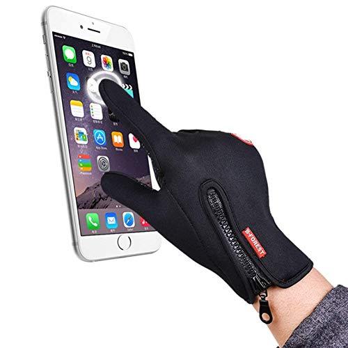 SWAMPLAND Anti-Rutsch Full Finger Fahrradhandschuhe Winddicht Wasserabweisend Touchscreen Handschuhe für Damen und Herren - 3