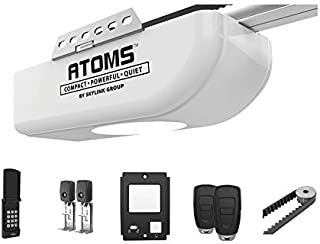ATOMS AT-1622BK By Skylink 1/2HPF Garage Door Opener with Extremely Quiet DC Motor, Belt Drive