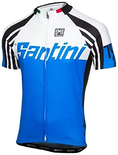 Santini Maglia Ciclismo Zest Blu S