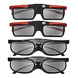 BOBLOV 3D Gafas Activas de Obturador, 96-144Hz 3D Gafas DLP-Link para DLP Proyector...