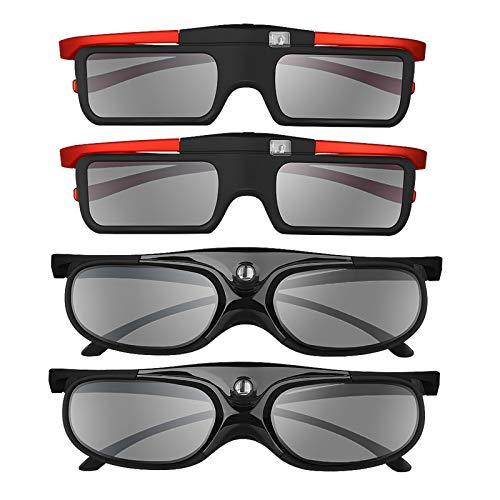 Boblov Active-Shutter-3D-Brille, 96-144Hz, DLP-Link für DLP-Projektor Optoma / BenQ / Sharp / Acer / Samsung / Mitsubishi / ViewSonic / LGusw.