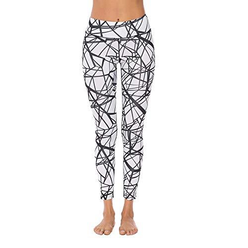 SXZG Damenmode Spinnennetz Digitaldruck Leggings Hüfte Sporthosen Kuh Damen Yogahosen