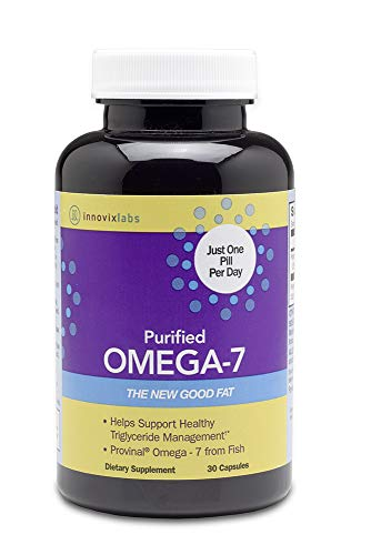 InnovixLabs Purified Omega 7, 30 Capsules (1-Month Supply), 210 mg Omega-7 per Pill as Triglyceride-Form Palmitoleic Acid, The Healthy Fat in Fish and Macadamia Nut Oil, Omega 7 Supplement